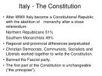 italy the constitution