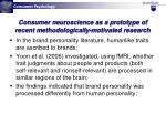 consumer neuroscience as a prototype of recent methodologically motivated research