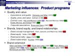 marketing influences product programs