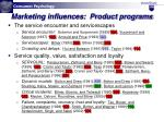 marketing influences product programs16