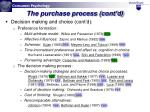 the purchase process cont d