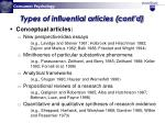 types of influential articles cont d