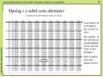 opslag i z tabel som alternativ