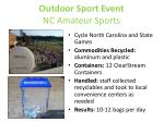 outdoor sport event nc amateur sports
