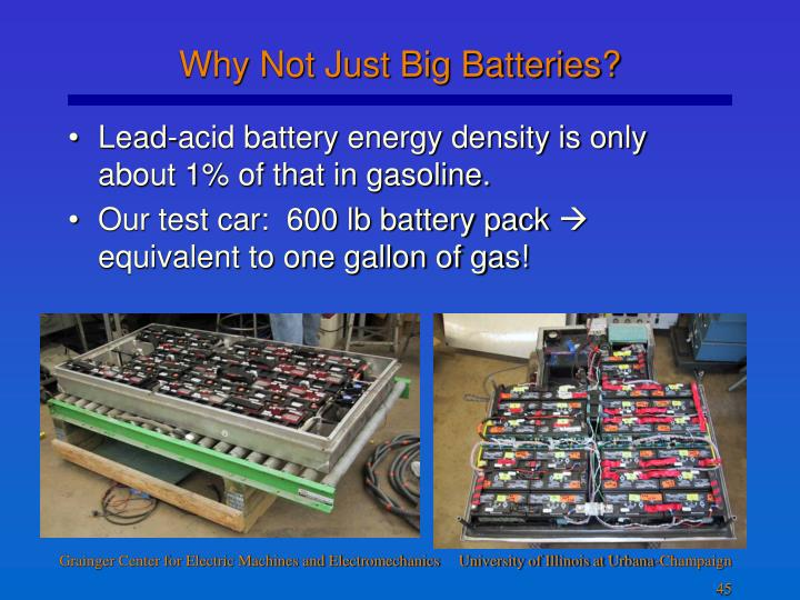 Why Not Just Big Batteries?