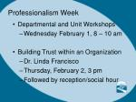 professionalism week