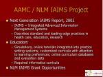 aamc nlm iaims project