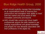 blue ridge health group 2000