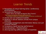 learner trends