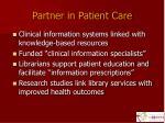 partner in patient care