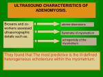ultrasound characteristics of adenomyosis29