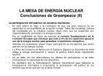 la mesa de energ a nuclear conclusiones de greenpeace ii