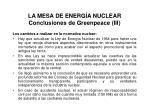 la mesa de energ a nuclear conclusiones de greenpeace iii
