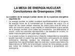 la mesa de energ a nuclear conclusiones de greenpeace viii
