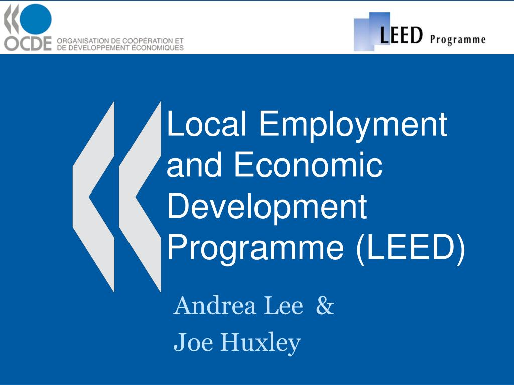 local employment and economic development programme leed l.