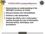 usmacom learning objectives