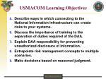 usmacom learning objectives19