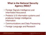 what is the national security agency nsa