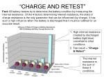 charge and retest