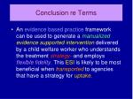conclusion re terms