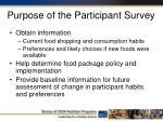purpose of the participant survey