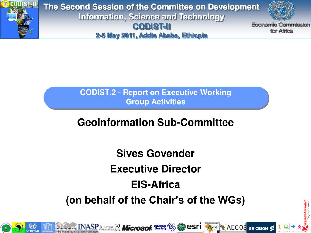 codist 2 report on executive working group activities l.