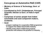 core group on automotive r d car