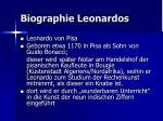 biographie leonardos12