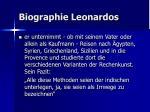 biographie leonardos13
