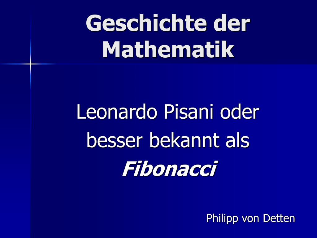 geschichte der mathematik l.