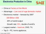 electronics production in china