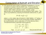 computation of azimuth and elevation5