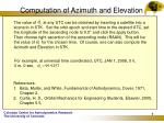 computation of azimuth and elevation6