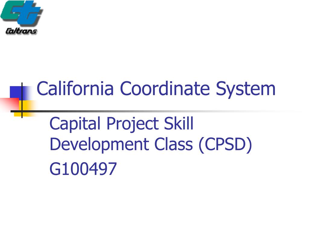 california coordinate system l.