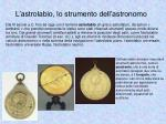 l astrolabio lo strumento dell astronomo