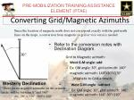 converting grid magnetic azimuths