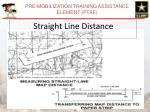 straight line distance