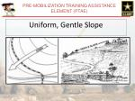 uniform gentle slope