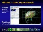 mrtweb create regional mosaic