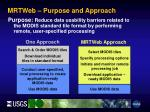 mrtweb purpose and approach