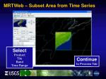 mrtweb subset area from time series