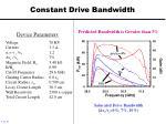 constant drive bandwidth