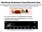northrop grumman cusp electron gun