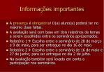 informa es importantes