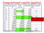 computational results quality53
