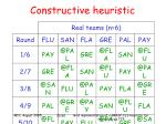 constructive heuristic21