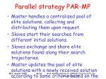 parallel strategy par mp