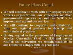 future plans contd