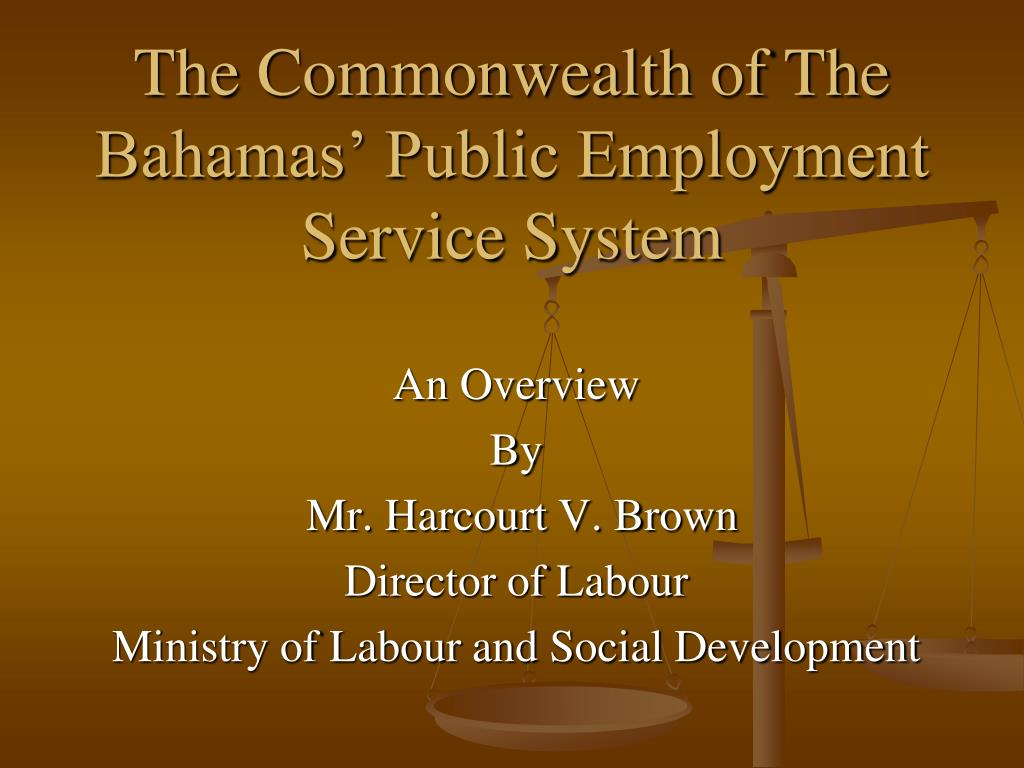 the commonwealth of the bahamas public employment service system l.