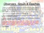 observers scouts coaches
